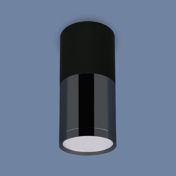 DLR028 6W 4200K черный матовый/черный хром Светильник точечный накладной светодиодный Elektrostandard