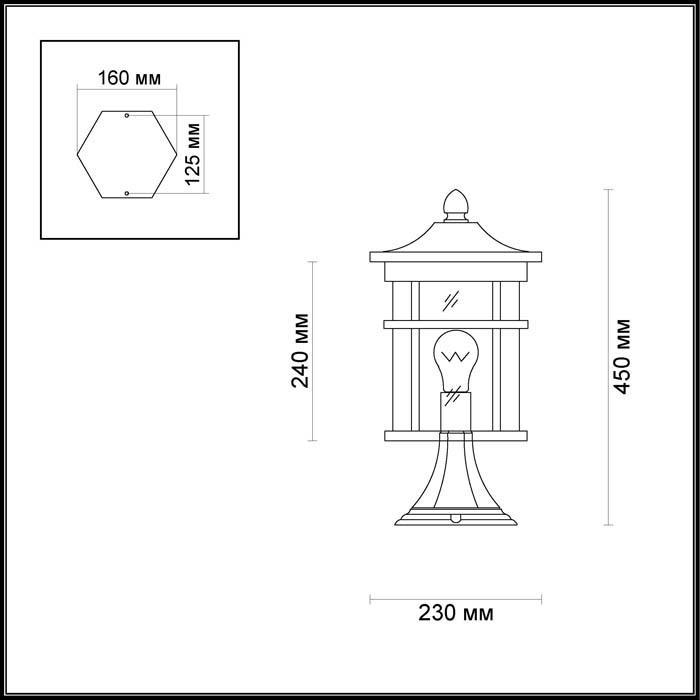 Уличный светильник Odeon Light Virta 4044/1B