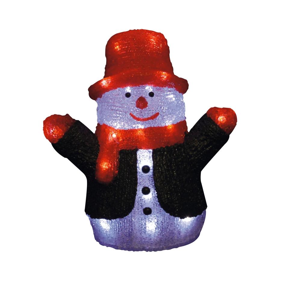 Фигурка светодиодная «Снеговик» 30x27 (09557) Uniel ULD-M2730-024/STA