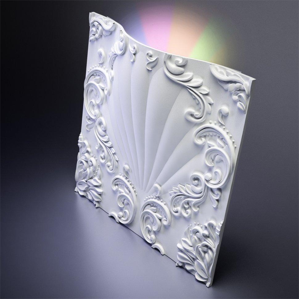 М-0039-1 М-0039-1 Дизайнерская 3D панель из гипса со встроенным светильником Artpole Design Valencia LED RGB
