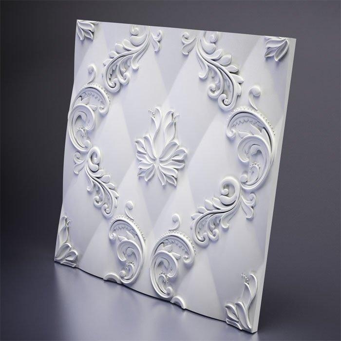 М-0038 Дизайнерская 3D панель из гипса Artpole Design Marseille