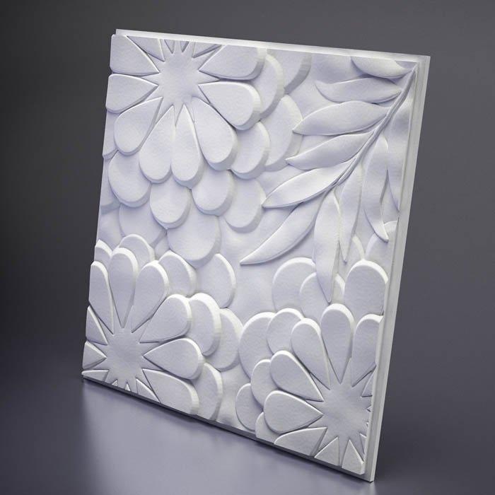М-0042 Дизайнерская 3D панель из гипса Artpole Design Flora